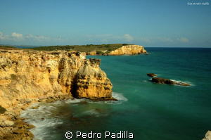 Panoramic view of the ocean from Cabo Rojo Lighthouse in ... by Pedro Padilla 